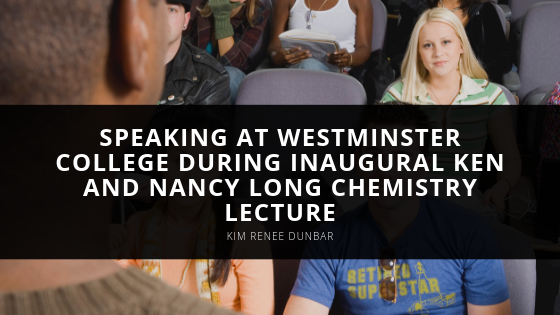 Kim Renee Dunbar Speaks at Westminster College During Inaugural Ken and Nancy Long Chemistry Lecture
